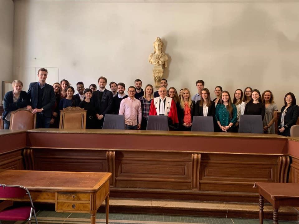 les étudiants du M2 Promotion CIRAD 2018-2019: visite de la cour d'appel de Montpellier
