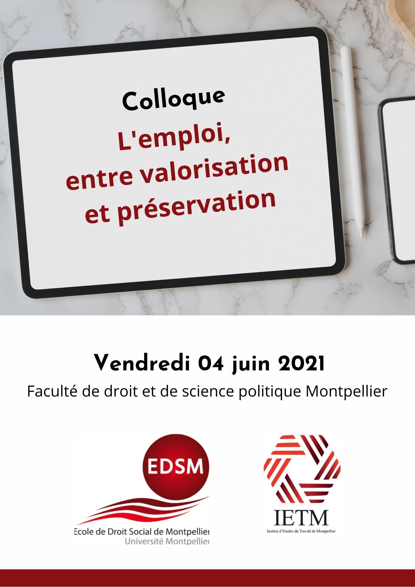 Colloque annuel de l'EDSM